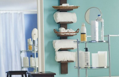 Towel storage for bathroom