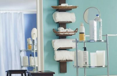 Towel storage for bathroom