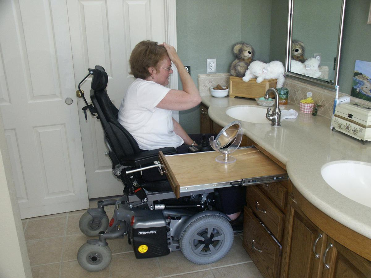 Wheelchair bathroom