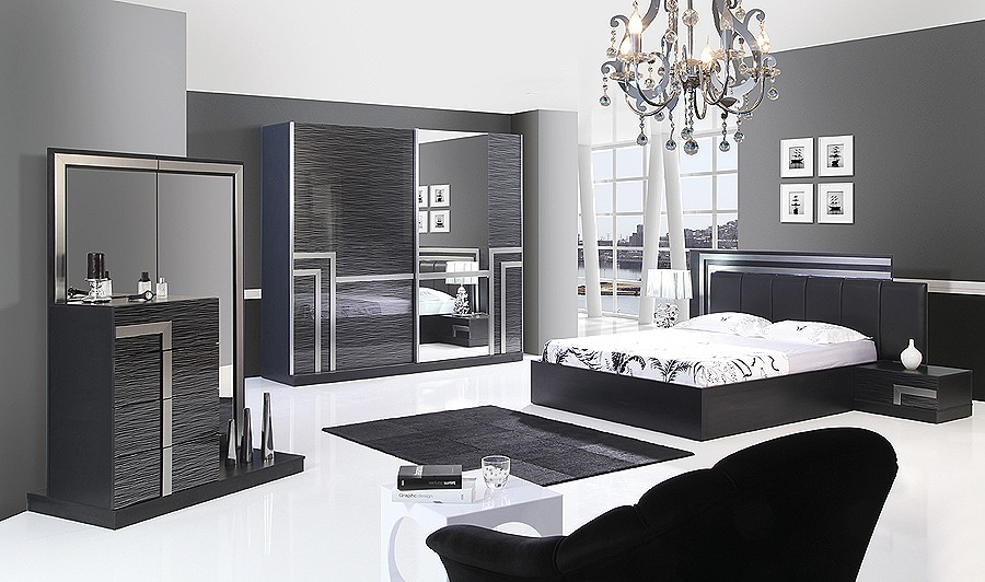 Bedroom colors with black furniture large and beautiful for All black bedroom furniture