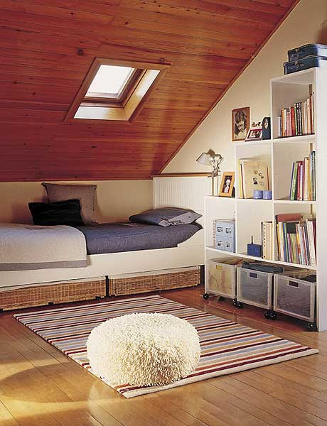 Attic bedroom design Photo - 1