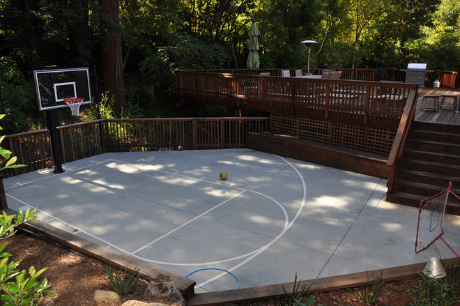 We Offer To Your Attention Backyard Basketball Court Ideas Photo U2013 6. If  You Decide To Decorate The House Or Yard And Do Not Know What To Do With It!