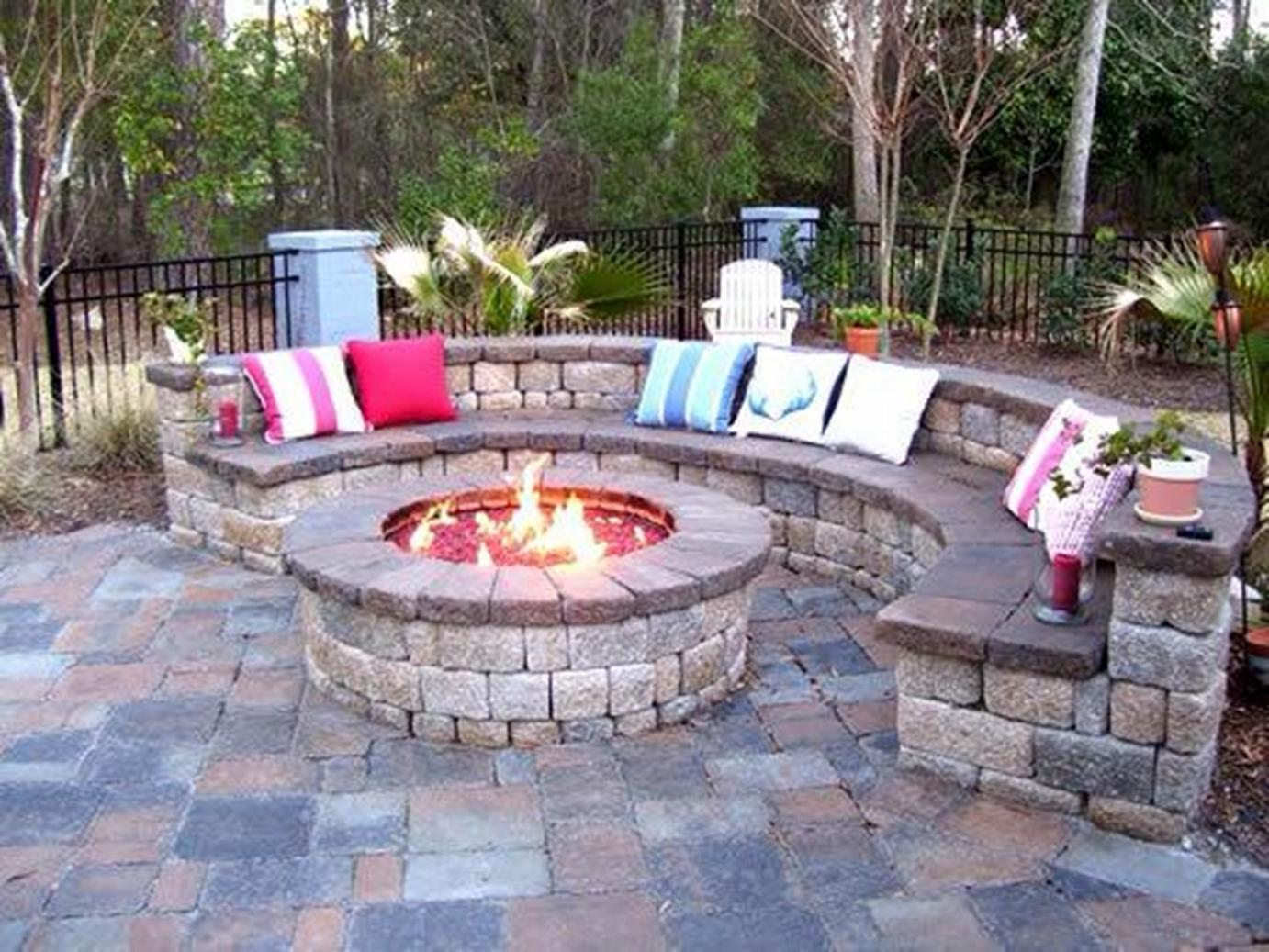 Backyard brick patio