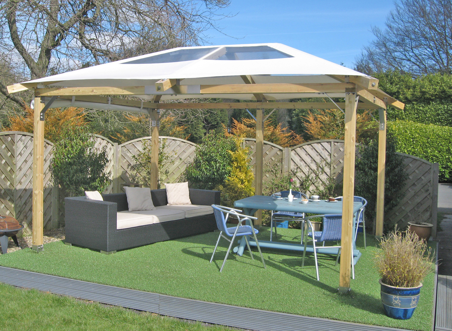 Backyard canopy gazebo