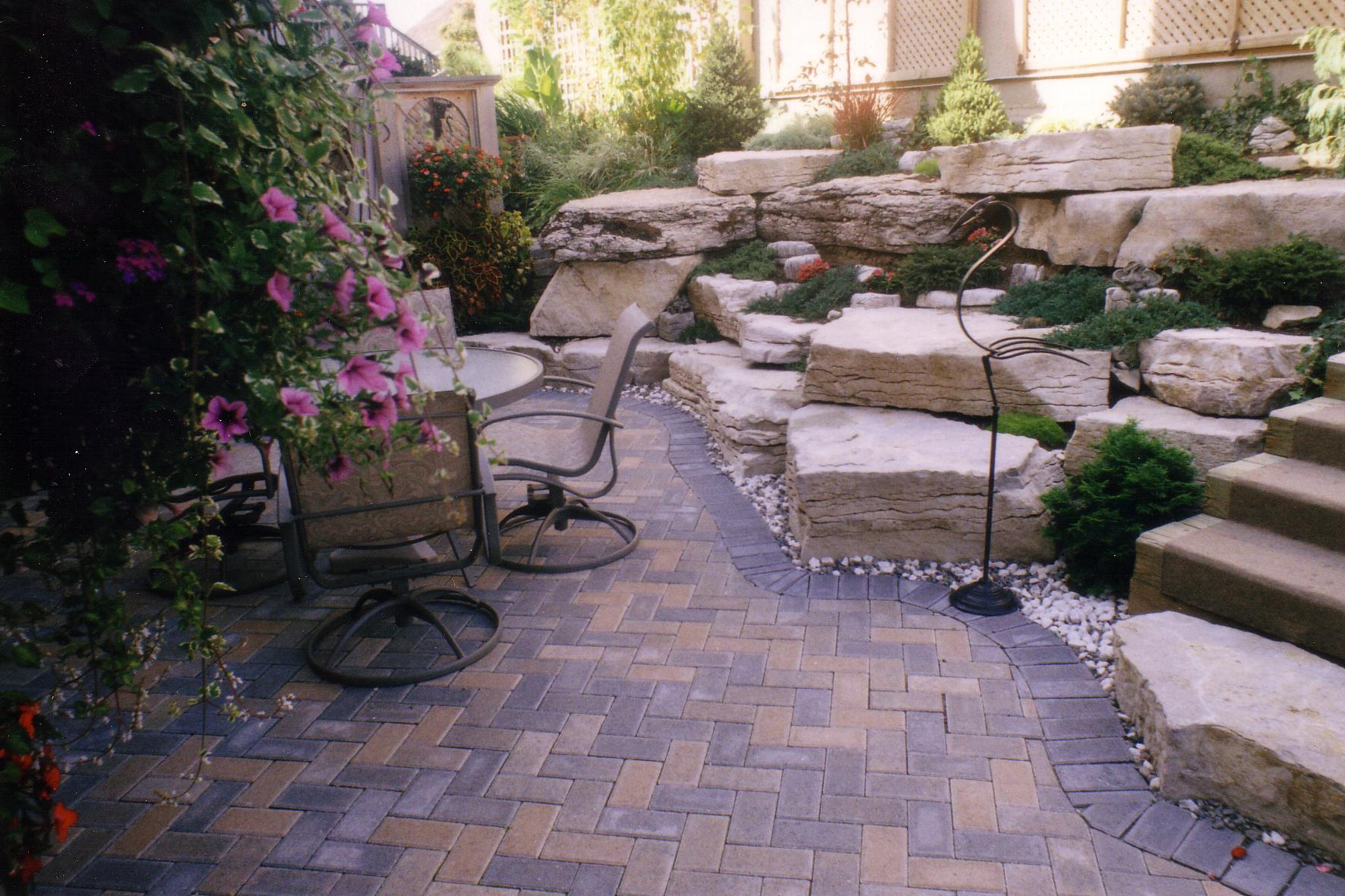 Rock garden patio ideas full size of garden ideasrock for Back garden patio ideas