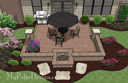 Gentil We Offer To Your Attention Backyard Cement Patio Ideas Photo U2013 4. If You  Decide To Decorate The House Or Yard And Do Not Know What To Do With It!