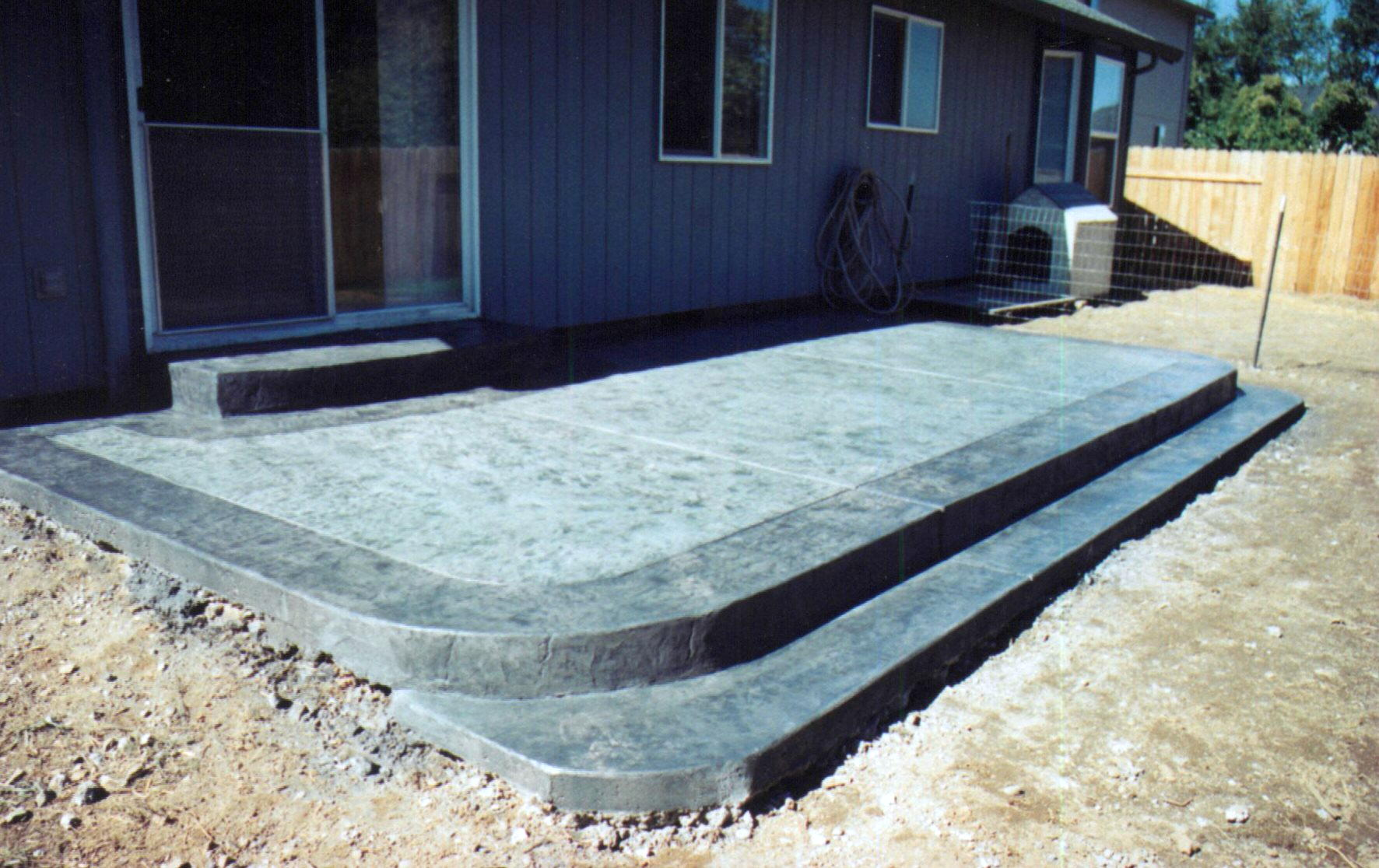 Backyard Cement Patio Ideas Photo 5 Design Your Home