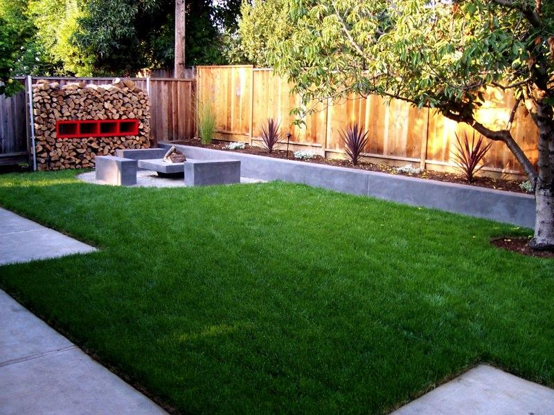 Concrete Backyard Landscaping Design concrete backyard ideas - large and beautiful photos. photo to