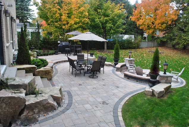Backyard concrete patio designs