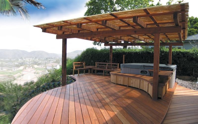 Backyard patio deck ideas - large and beautiful photos. Photo to ...