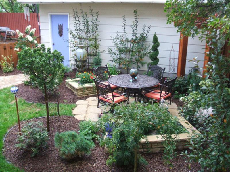 Дизайн садовых участков фото своими руками