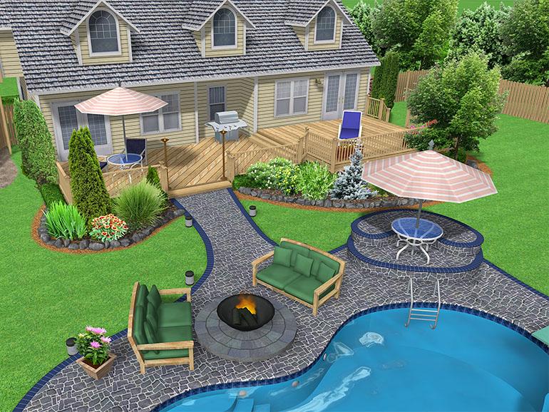 Woodland Gardens Landscape Backyard Design Online Landscape