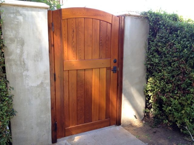 Backyard fence door
