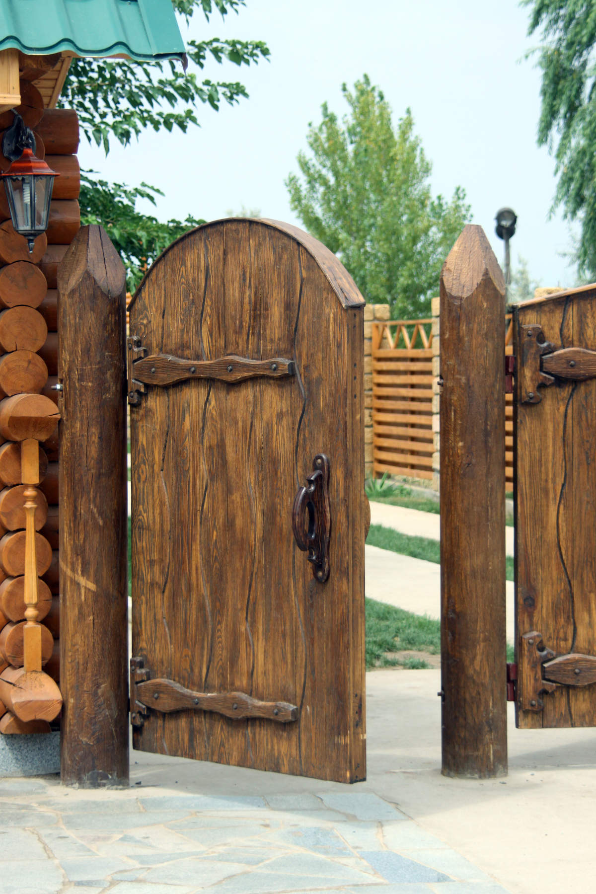 backyard fence door photo 4 design your home