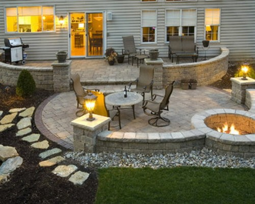 Backyard Fire Pit Ideas Landscaping Photo   3