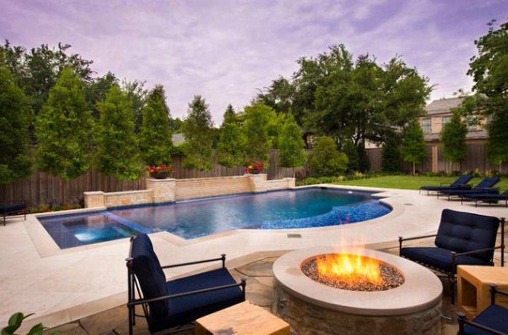 Backyard fire place