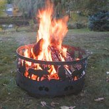 Backyard fire ring