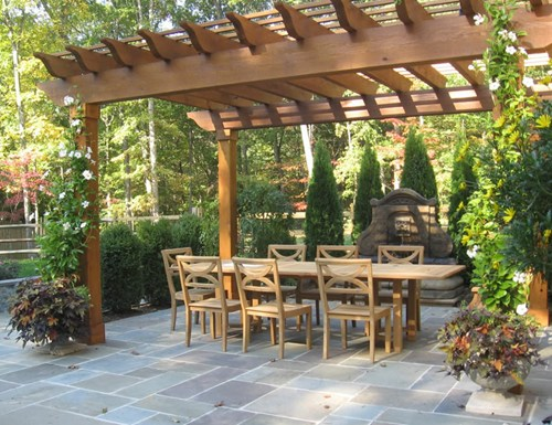 Backyard flagstone patio ideas