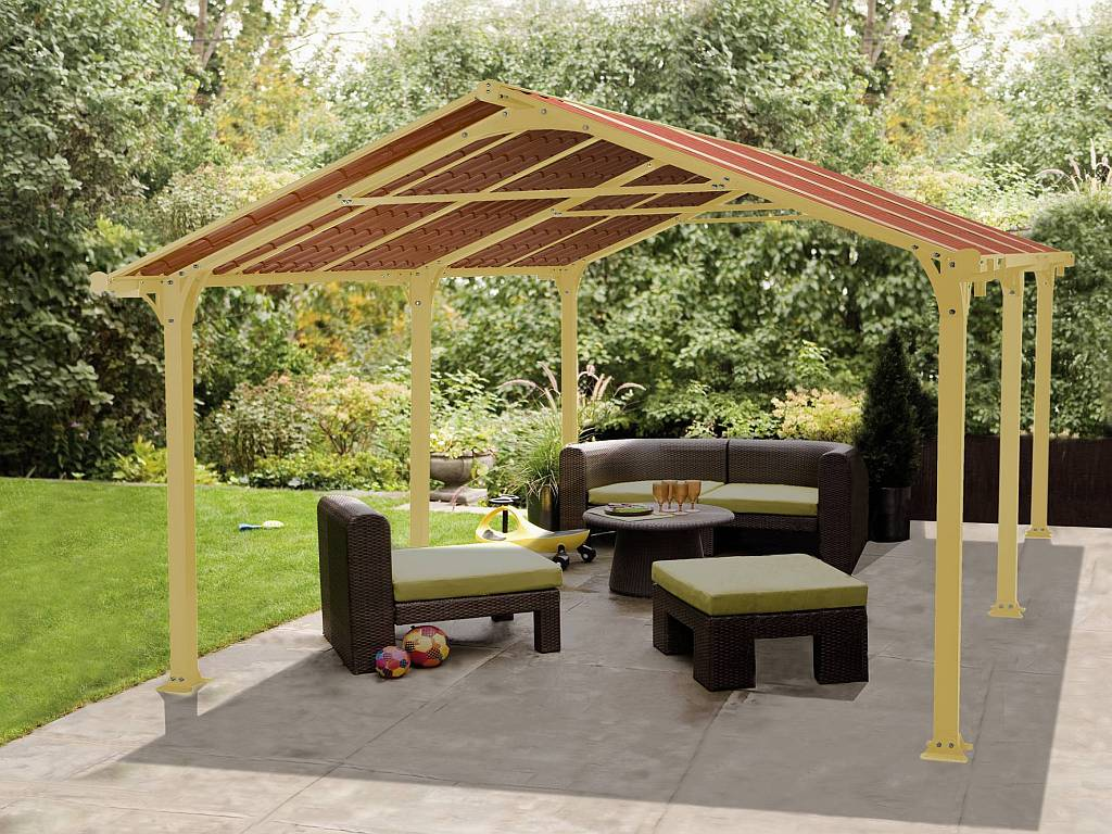 Backyard gazebo canopy