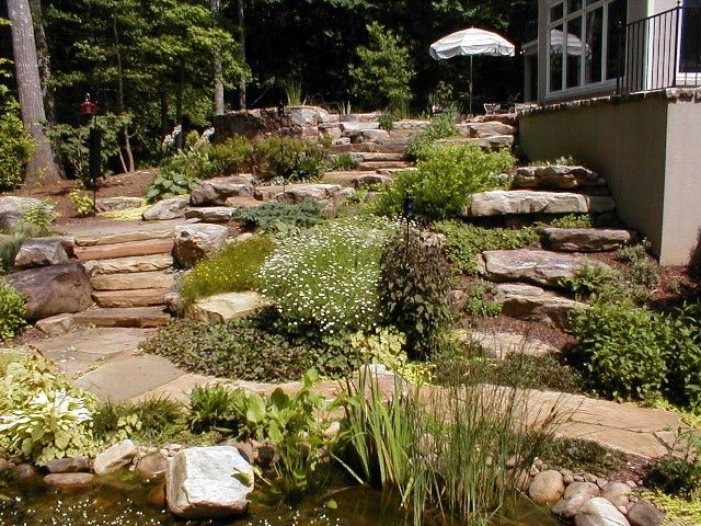 Backyard Hill Landscaping Ideas Photo