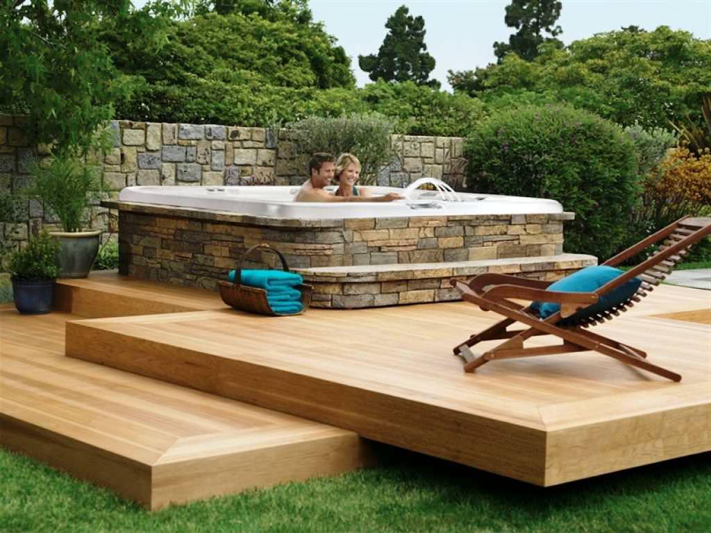 Backyard Hot Tub Ideas Large And Beautiful Photos Photo