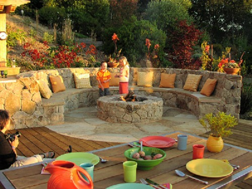 Backyard Ideas With Fire Pits Photo   7