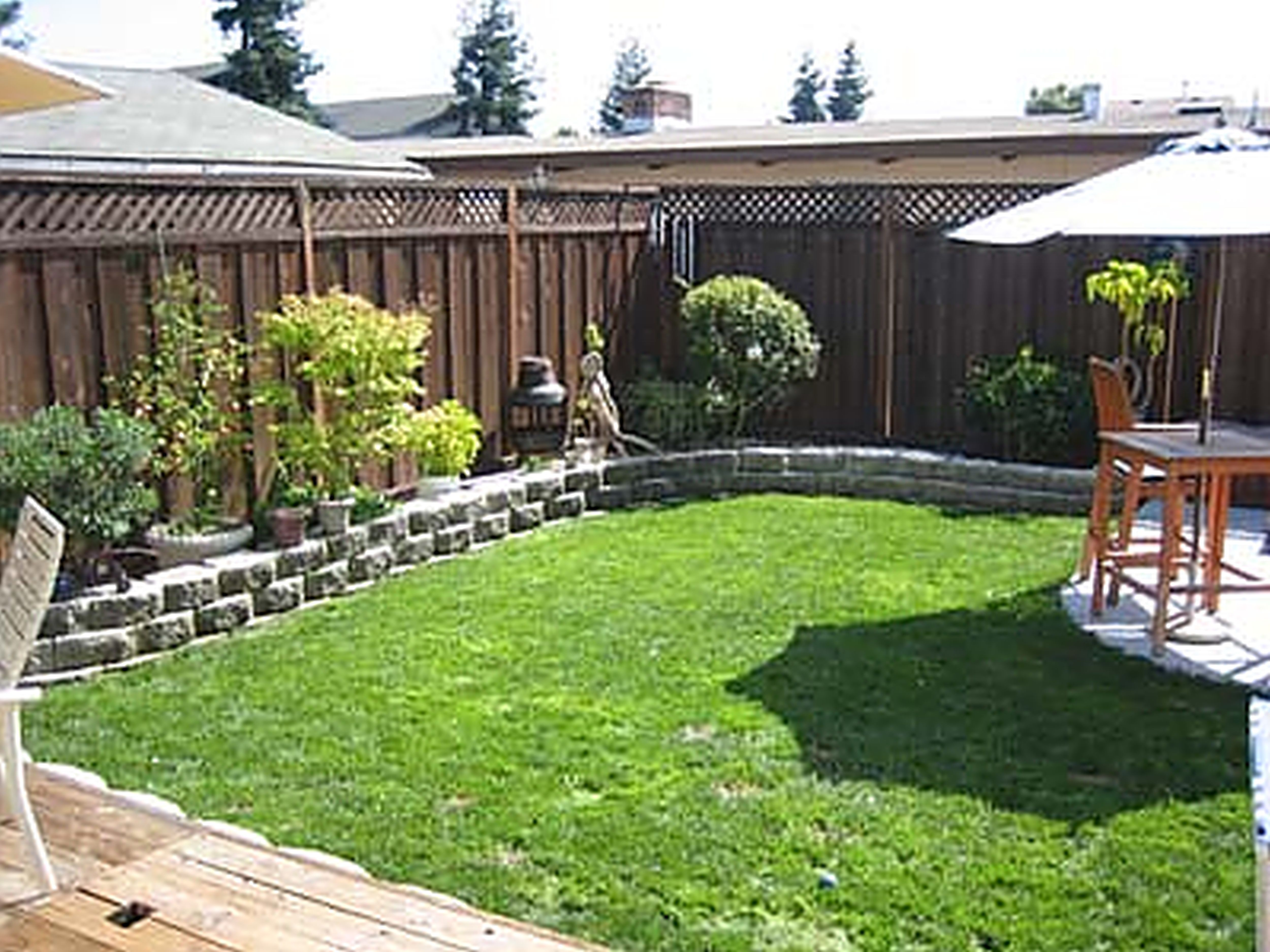 ideas Backyard slope landscaping ideas Backyard landscaping design
