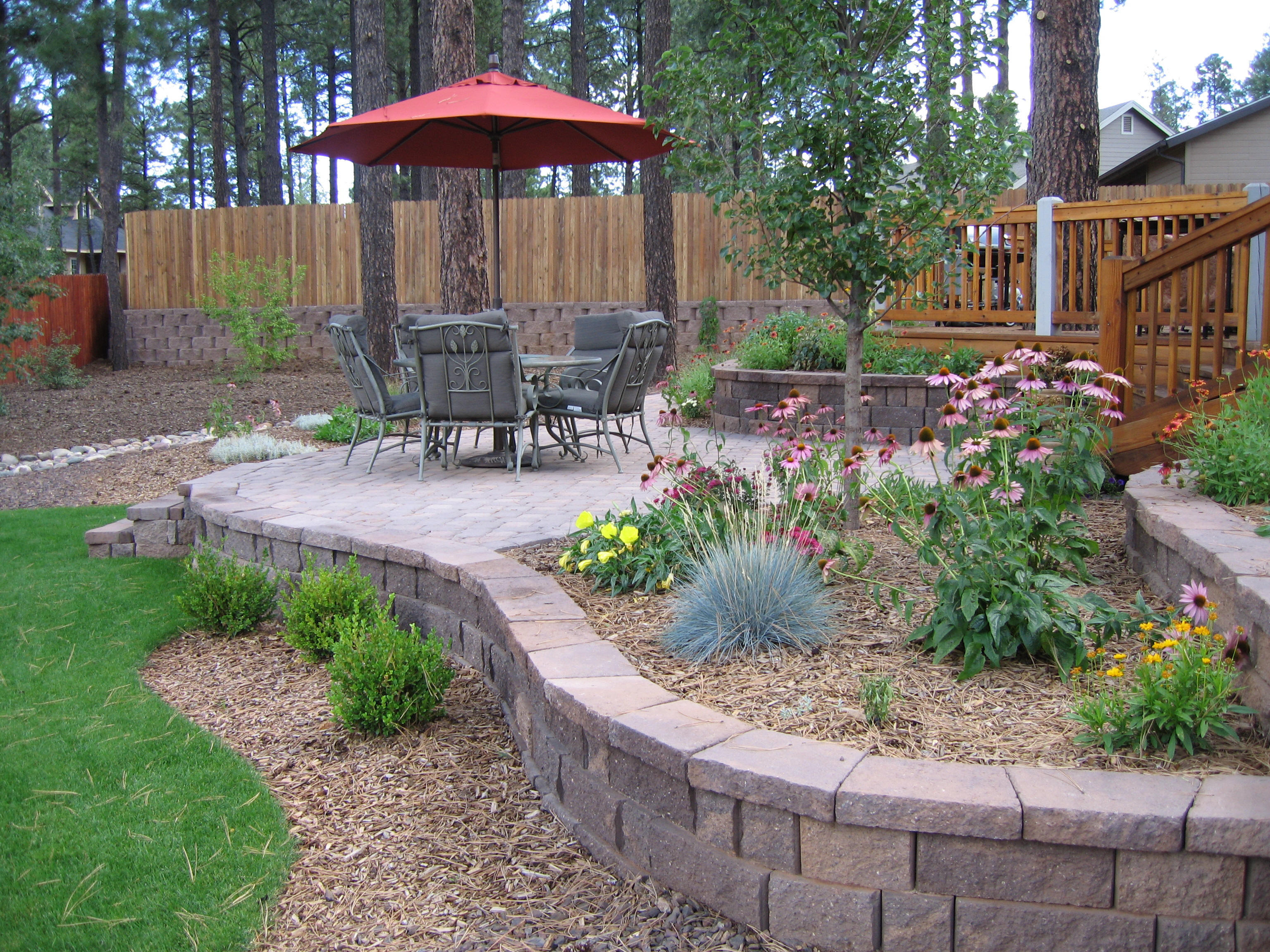 Backyard fire pit landscaping ideas large and beautiful Large backyard design ideas
