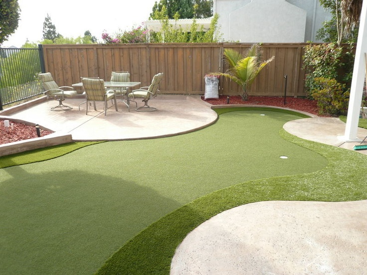 Backyard Golf Course Design here is a picture of my backyard golf course everest corner Backyard Miniature Golf Course Photo 6