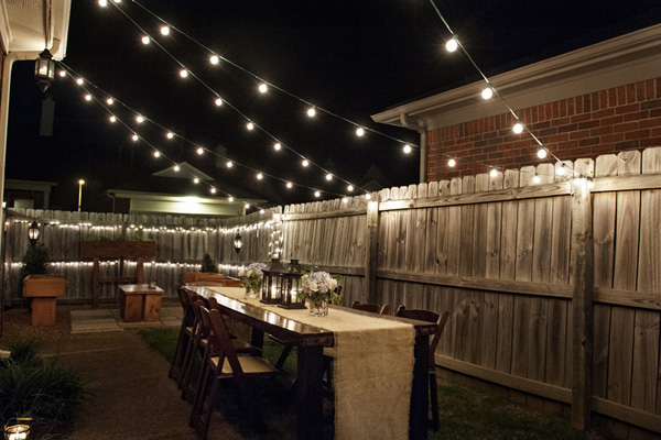 Backyard party decor