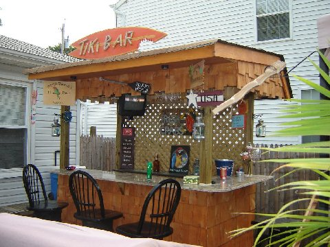 Backyard patio bar