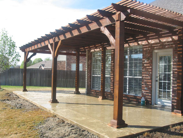 Backyard patio covers