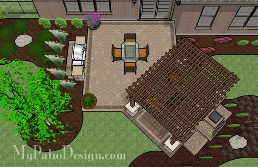 Charming We Offer To Your Attention Backyard Patio Design Plans Photo U2013 5. If You  Decide To Decorate The House Or Yard And Do Not Know What To Do With It!