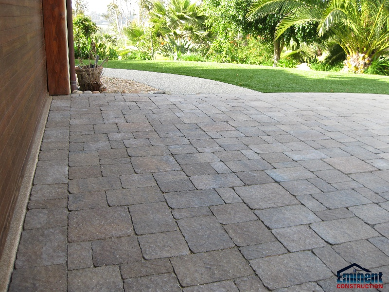 Backyard pavers