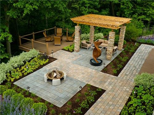 Backyard pavers diy