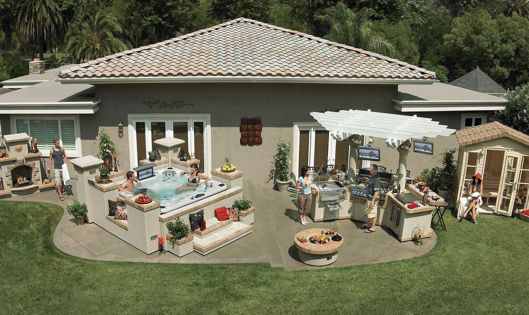 backyard retreats large and beautiful photos photo to select
