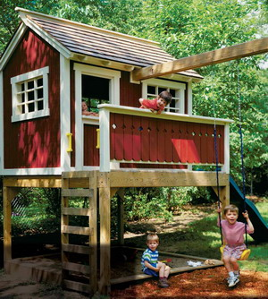 We Offer To Your Attention Backyard Playhouse Ideas Photo U2013 6. If You  Decide To Decorate The House Or Yard And Do Not Know What To Do With It!