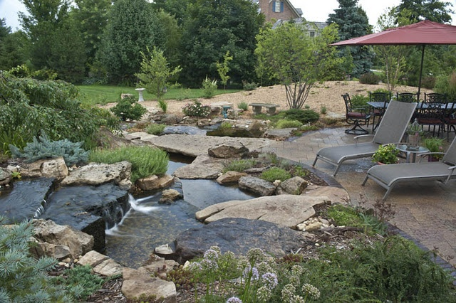Backyard koi pond ideas large and beautiful photos for Outside pond ideas