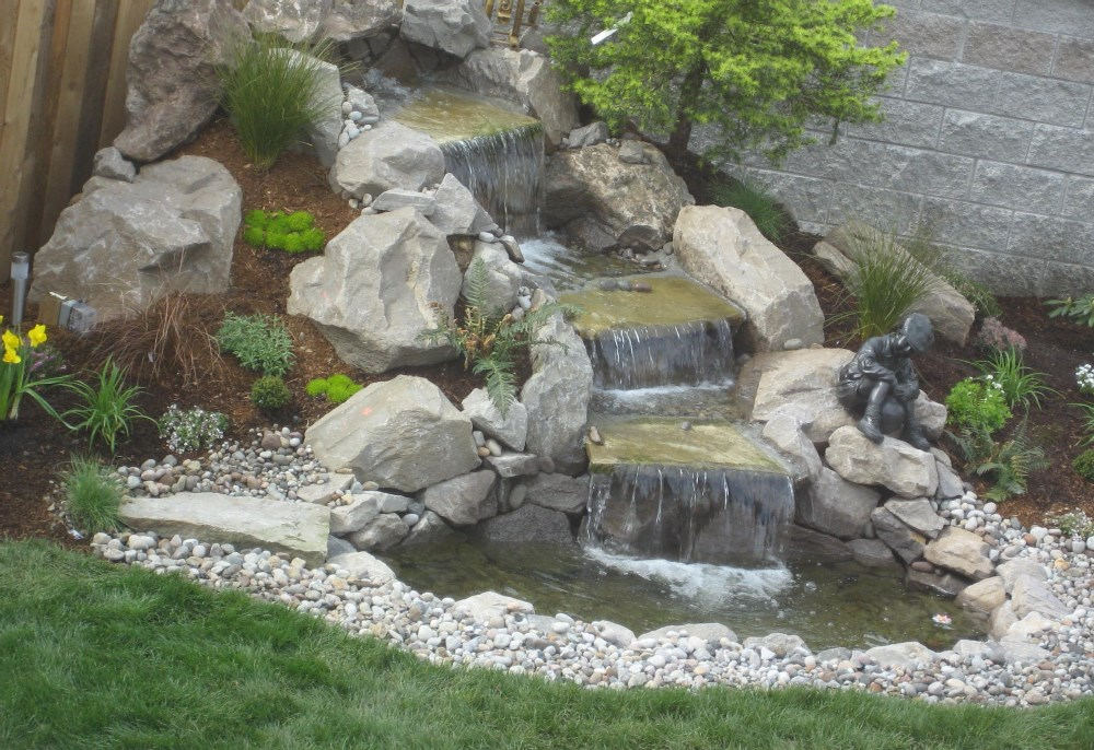 Backyard pond ideas with waterfall Photo - 4 | Design your home