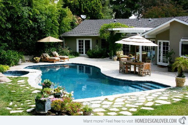 Backyard pool house Photo - 1