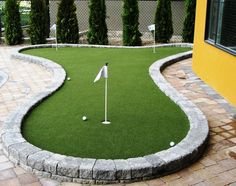 Backyard putting greens do it yourself - large and ...