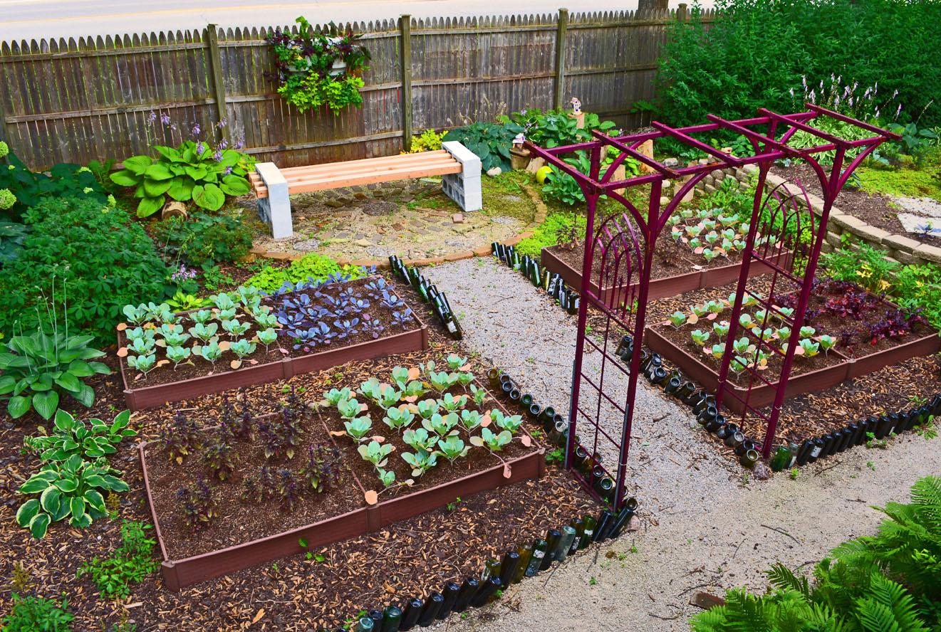 Дизайн маленького огорода фото
