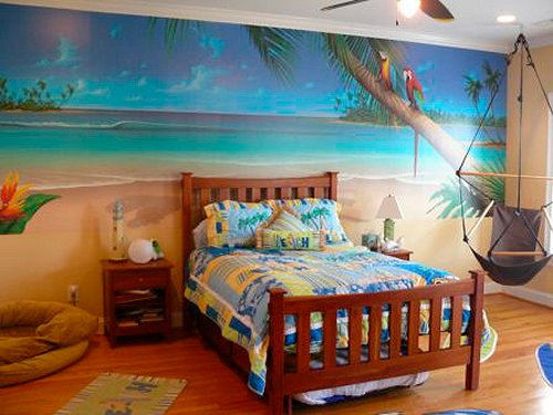 Beach style bedroom Photo - 1