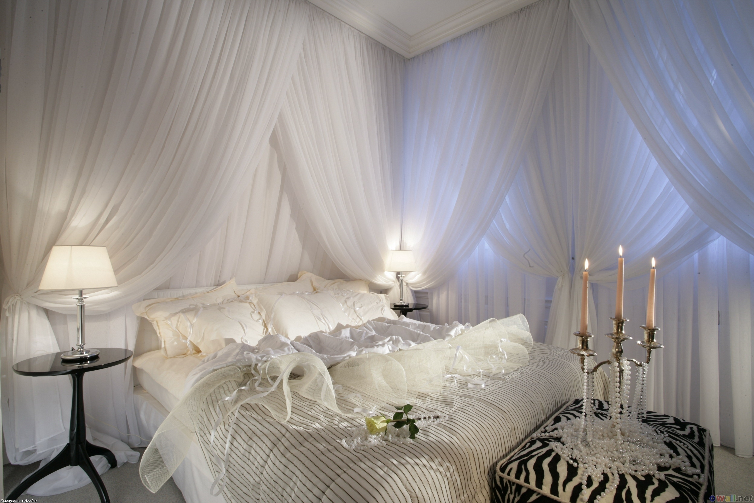 Beautiful bedroom curtains Photo - 1