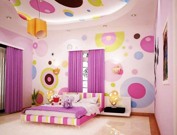 Дизайн стены в детской фото