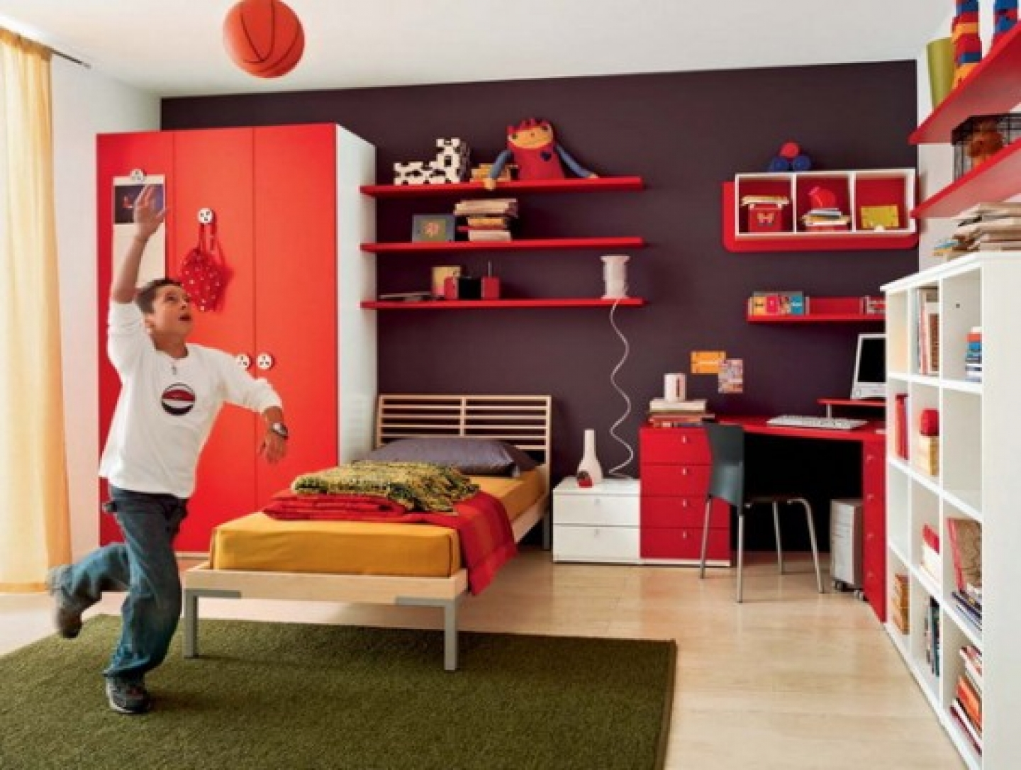 bedroom decorating ideas for teenage girls - large and beautiful
