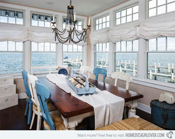 Beach themed dining room
