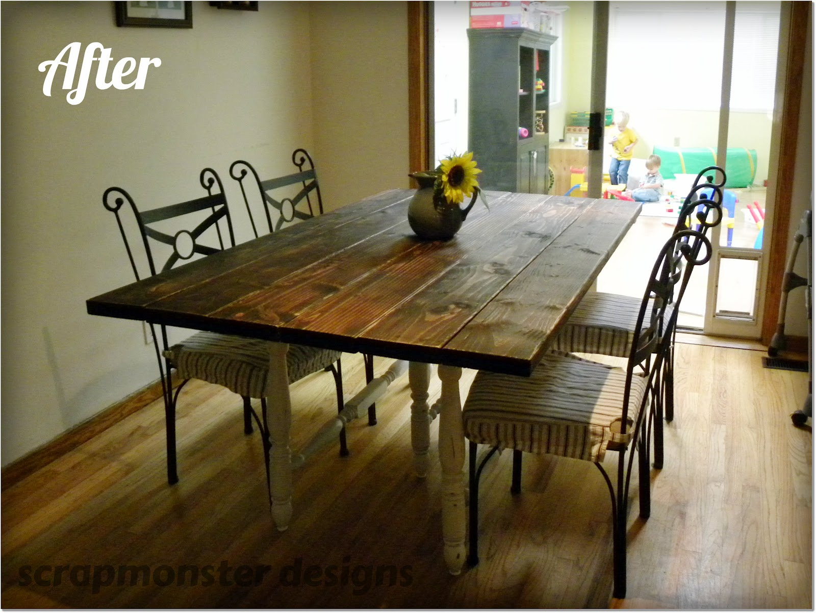 how to make a rustic dining room table large and beautiful