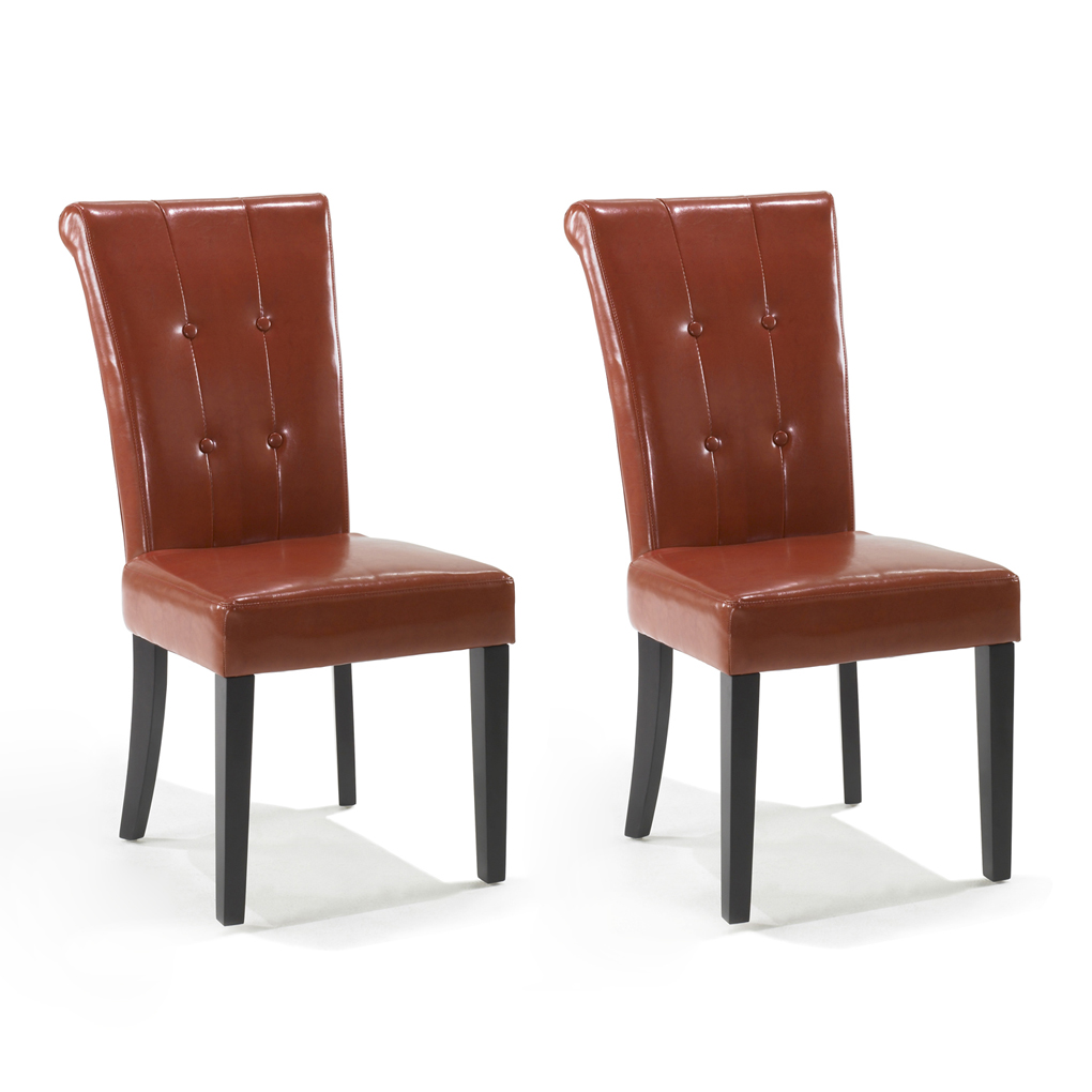 Burnt orange dining chairs Photo - 1