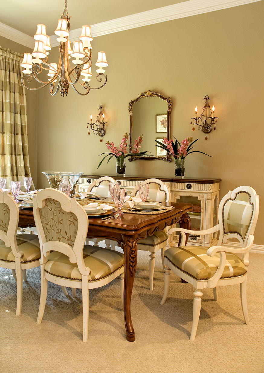 Beautiful Decorating A Dining Room Buffet ...